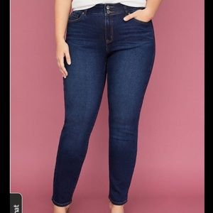 Lane Bryant Tighter Tummy Dark Wash Skinny Jeans